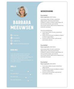 CV Barbara - blauw 1