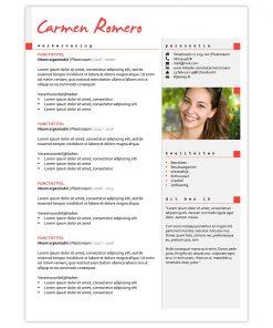 CV Carmen - rood 1