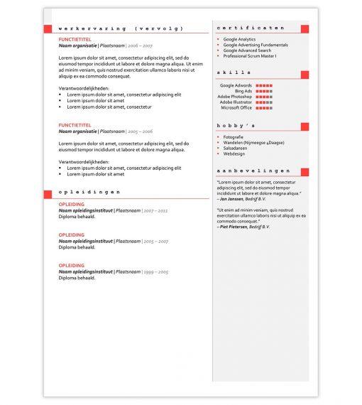 CV Carmen - rood 2
