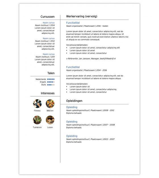 CV template 'Dominic' | Creatief CV.nl