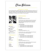 CV Elisa - geel 1