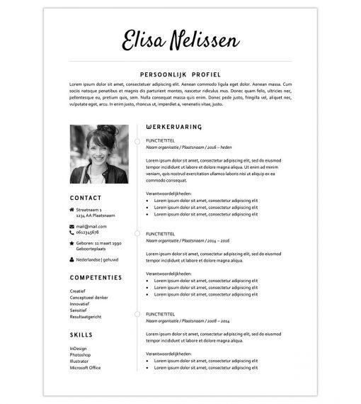 CV Elisa - zwart-wit 1