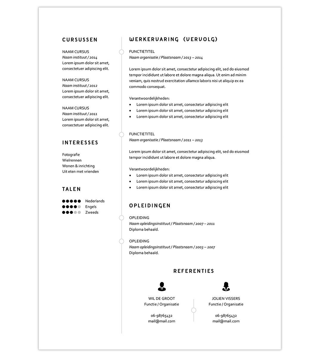 CV template 'Elisa' | Creatief CV