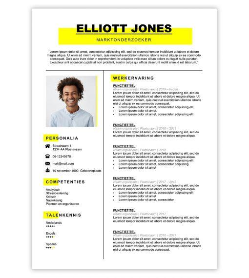 CV Elliott - geel-1