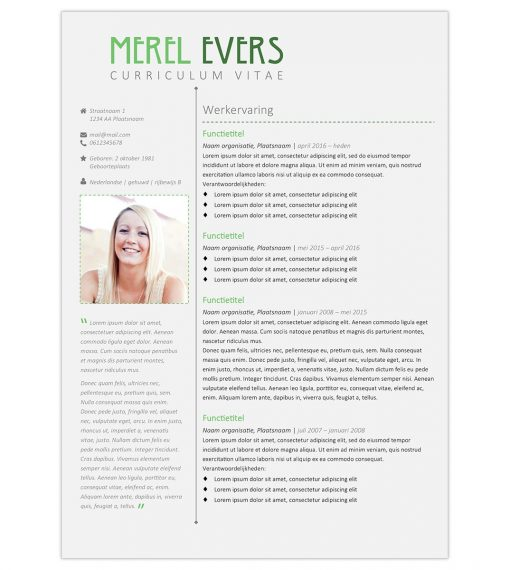CV Merel - groen 1