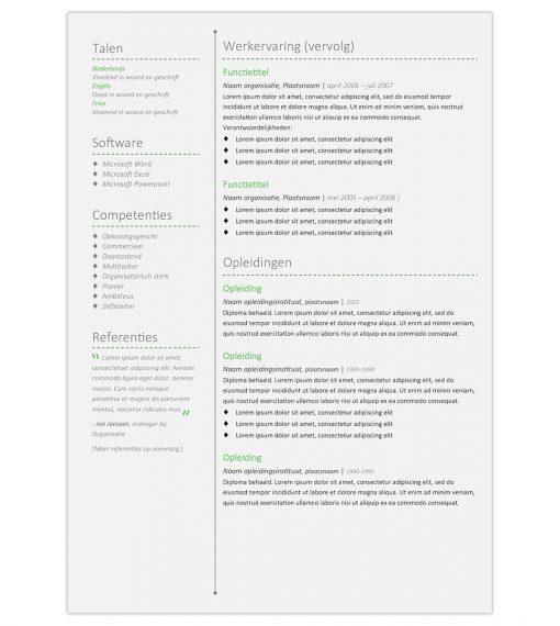 CV Merel - groen 2