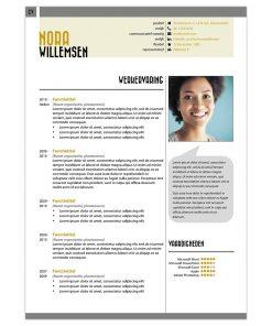 CV Nora - geel 1