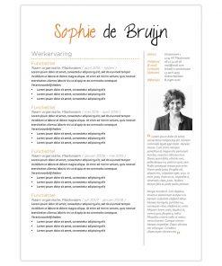 CV Sophie - oranje 1
