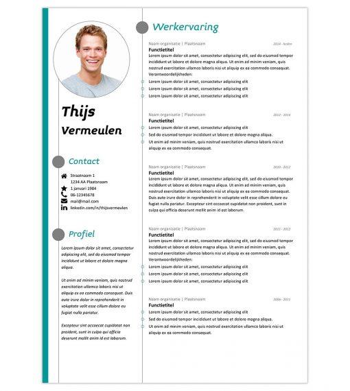 CV Thijs - turquoise 1