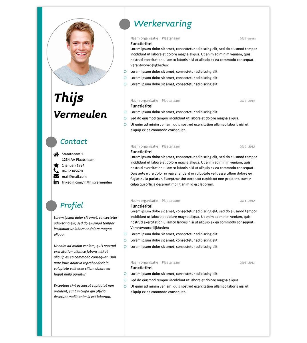 CV template 'Thijs' | Creatief CV.nl