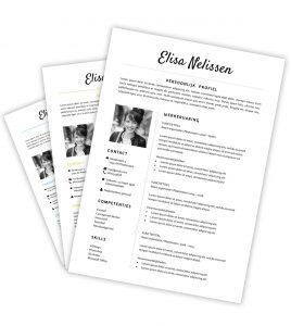 CV-template 'Elisa'