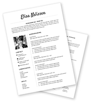 CV-template Elisa - zwart-wit