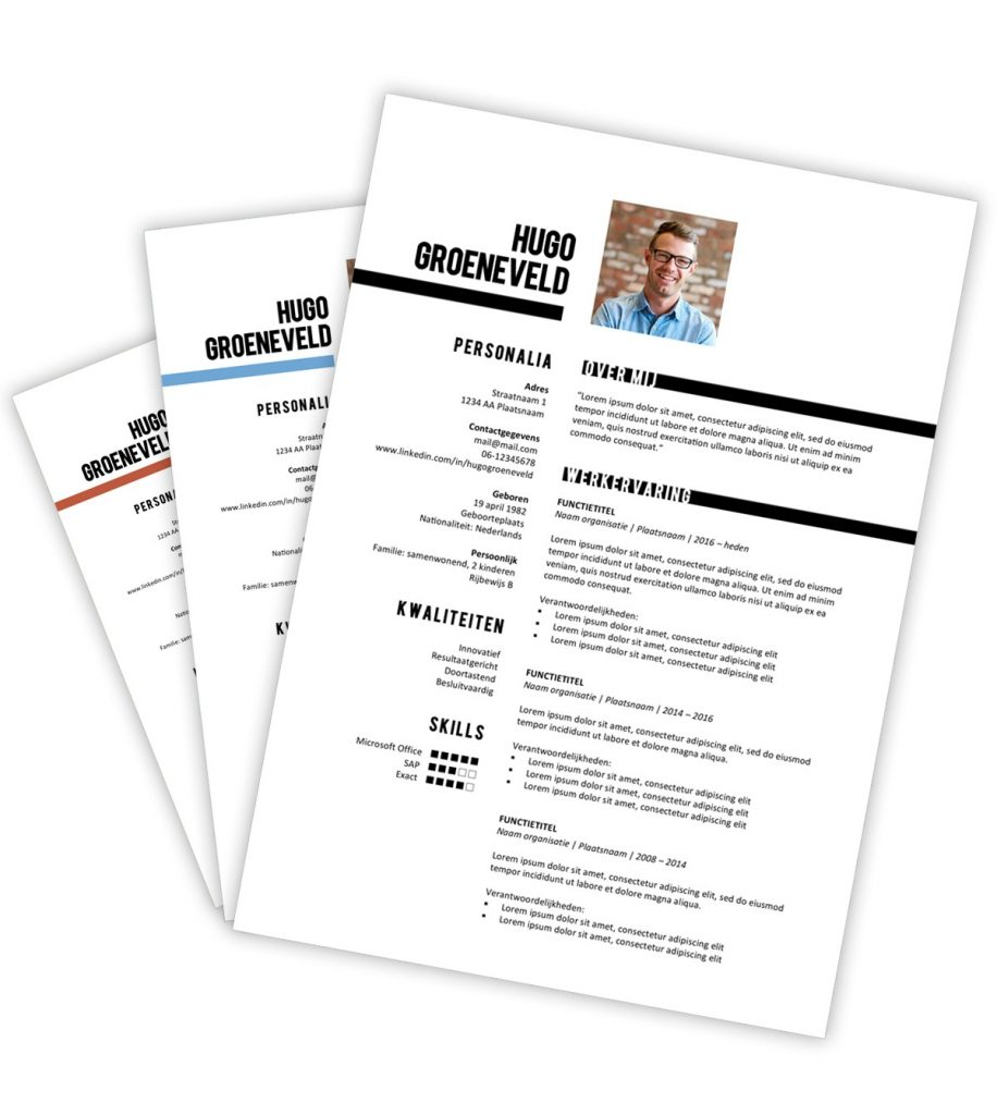 CV-template 'Hugo'