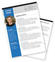 CV-template Johan - blauw