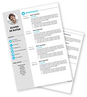 CV-template Olivier - blauw