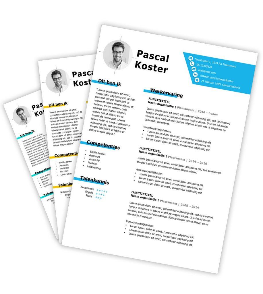 CV-template 'Pascal'