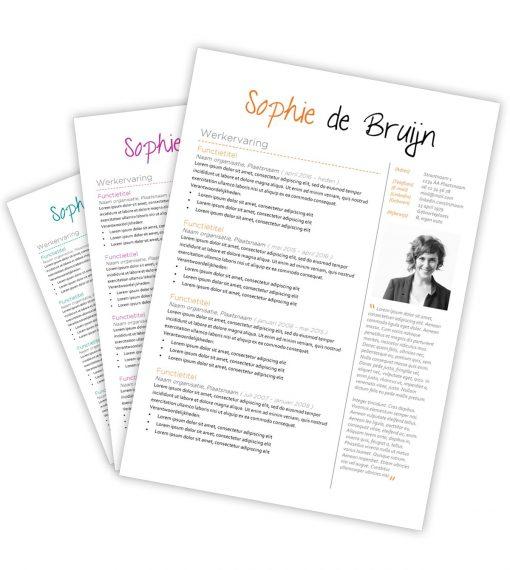 CV-template Sophie