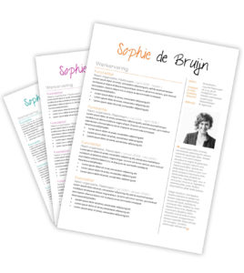 CV-template 'Sophie'