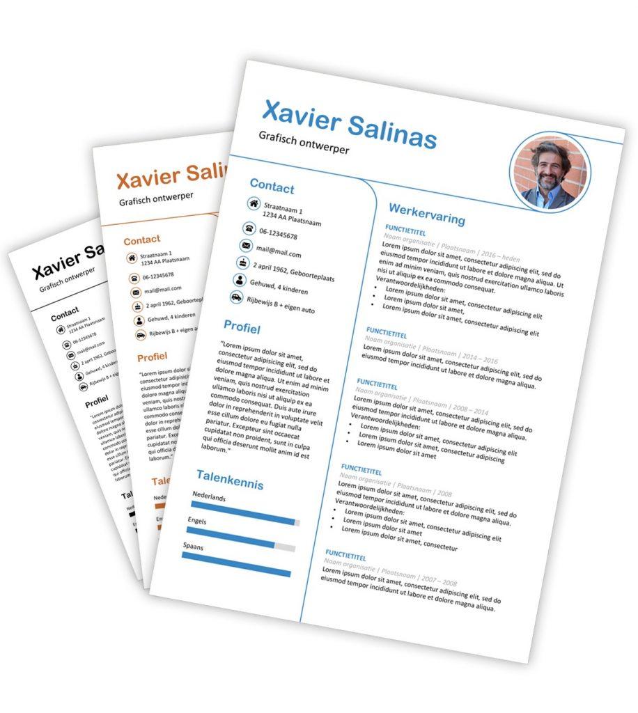 CV-template 'Xavier'