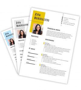 CV-template 'Zita'
