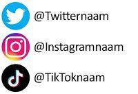 Personalia voorbeeld social media