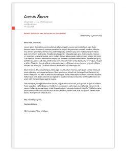 Sollicitatiebrief Carmen - rood