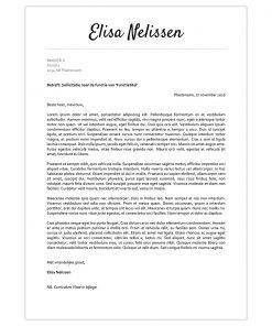 Optioneel: Sollicitatiebrief Elisa - zwart-wit