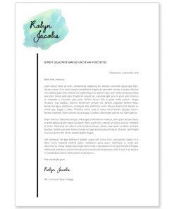 Optioneel: Sollicitatiebrief Robyn - turquoise